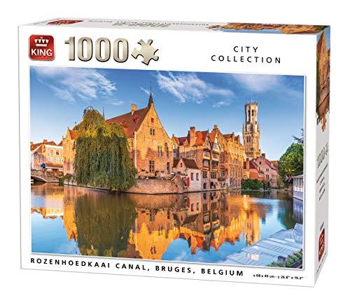 King-Rozenhoedkaai Canal Brujas, Bélgica, 1000 Piezas, Color. (55951)