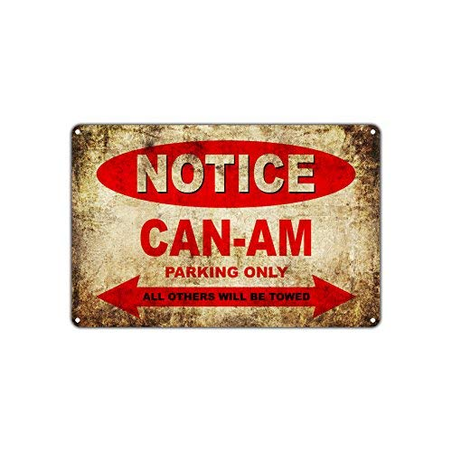 HSSS CAN-AM Motorcycles Bikes Only All Other Will Be Towed Parkschild Vintage Retro Metall Decor Art Shop Man Cave Bar Aluminium 20,3 x 30,5 cm Schild