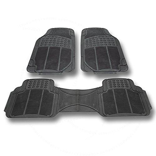 LT Sport 3pcs Waterproof Rubber Floor Mats All Weather Custom Fit Carpet Front +...