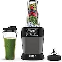 Ninja (BN495EU) Frullatore con Auto-iQ, 1000 W, 2 Bicchieri da 700 ml, Nero/Argento