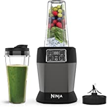 Ninja BN495EU Blender met auto-iQ, 2 glazen à 700 ml, 1000 W, 700 milliliter, Tritan, 2 snelheden, zwart/zilver