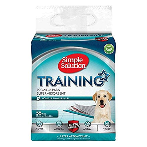 Simple Solution Premium Dog and Puppy Training Pads (Pack of 56)