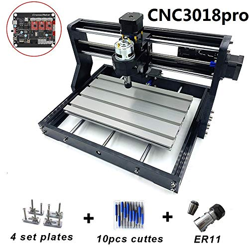 CNC 3018 Pro freesmachine GRBL besturing DIY mini 3 assen PCB freesmachine hout router CNC graveermachine met offline controller met ER11 en 5 mm verlengstang Standardversion
