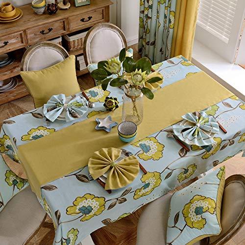 Tafelkleed van Amerikaans landhuis, eenkleurig, voor tafel, café, tafelkleed, tafelkleed, voor de koelkast, rechthoekig, bloemenmotief, 60 x 60 cm