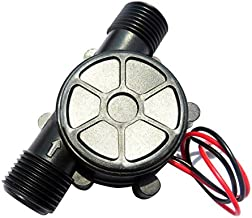 Tinsay DC Water Turbine Generator Water 12V DC 10W Micro-Hydro Water Turbine Hydroelectric Charging Power 12V Generator