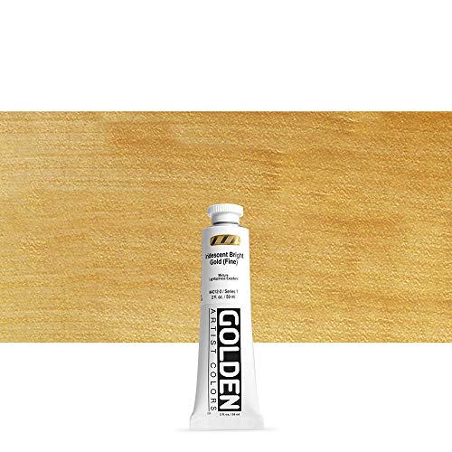 Golden HEAVY BODY Metallfarben, 60 ml Tube, 4012 Gold Brillant (fein)