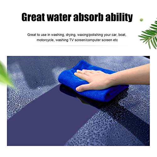 Autoreinigung Waschen Mikrofasertücher - Leichte tragbare Weichheit Wasser absorbieren Stärke Mikrofasertuch Autopflege Reinigung Waschen Reinigen Tuch 30X70CM - Blau