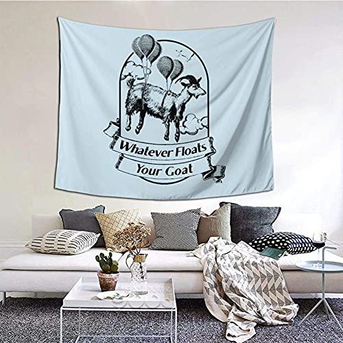 TapicesTapiz del partido del dormitorio de estar del dormitorio de la familia Whatever Floats Your Goat Tapiz interior personalizado de poliéster estampado 152×130 cm