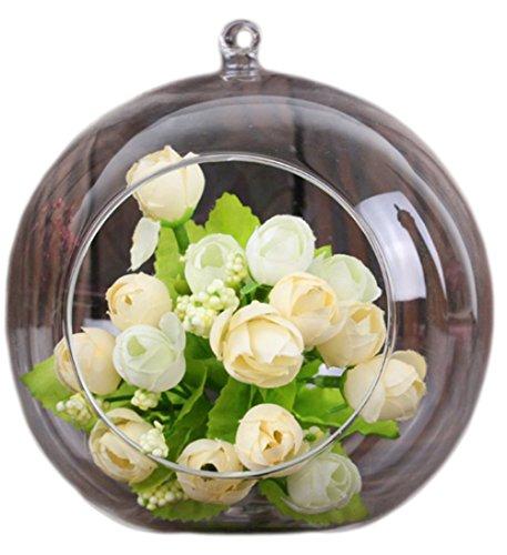 Namgiy - Jarrón de cristal para colgar flores, bola de bola, vela, portavelas, árbol de jardín y decoración en miniatura