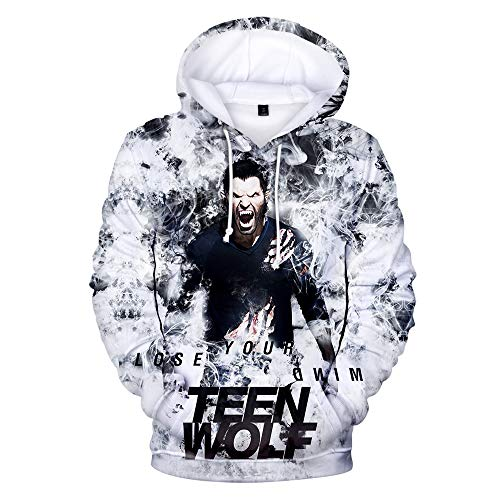 Hot TV Series Teen Wolf Felpe con cappuccio Felpa Unisex Moda Felpe con cappuccio Felpa E XX-Small