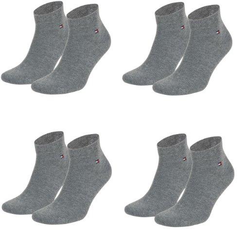 Tommy Hilfiger unisexe quarter socks 4 et 6 pièces - - 39/42-4er paquet de