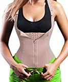 Eleady Women's Underbust Corset Waist Trainer Cincher Steel Boned Body Shaper Vest With Adjustable Straps