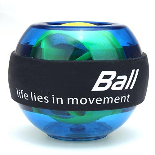 Giratorio Ball, Slim erence mano Trainer energyball con Light muñeca Trainingsgerät para brazo Descansa Mano Power Balón de entrenamiento, azul