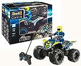 Revell- RC Quadbike policía Coche de Control Remoto, Color Azul (24644)