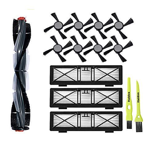 Italdos Kit Pinceles Filtros para Neato Botvac D3 D5 D75 D80 D85-1 Rodillo Cepillo de Cerdas, 3 Filtros Hepa, 8 Pinceles Laterales + 2 Pinceles