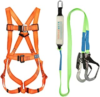 LXYYSG Construction Harness, Safety Harness Vest-Style Fall Protection Industrial Fall Protection Kit for Aerial Lift, Ironworker, Scaffolding, Tower, Tree Climbing for Universal Men and Women