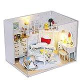YUHT DIY Puppenhaus Puppenhaus 3D Holz DIY Cottage handgefertigte Puppenhaus Mini DIY Kit Prinzessin Cabin Serie Miniatur Landschaft Home Decoration Urlaub Geburtstagsgeschenk Geschenk für Kinder