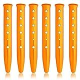 HIKEMAN 6 estacas para Tienda de campaña de Nieve y Arena, Ligeras estacas de aleación de Aluminio estacas para Acampar al Aire Libre en Forma de U estacas para Acampar Senderismo Mochila (Dorado)
