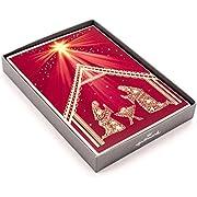 Hallmark Religious Boxed Christmas Cards, Nativity Scene (16 Christmas Cards and 17 Envelopes)