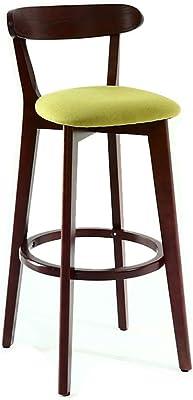 Amazon.com: JUANxiao Bar Stool, Wrought Iron Seat Creative ...