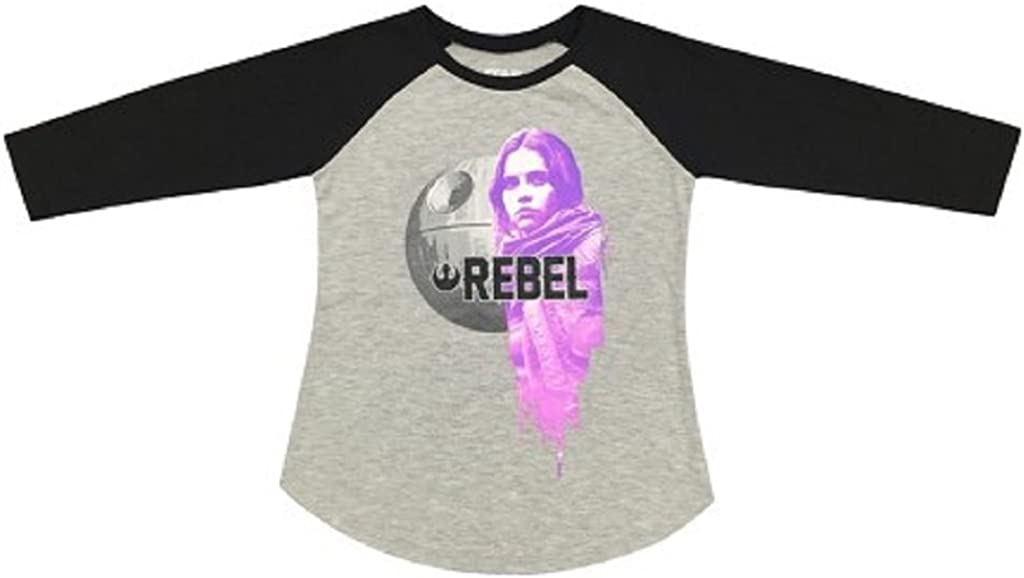 Star Wars Girls Tee Shirt (XS 4/5, Grey)