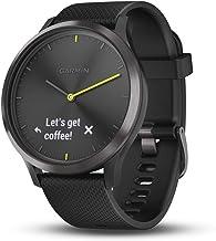 Garmin vívomove HR, Hybrid Smartwatch for Men and Women, Black/Black, Large (Certified Refurbished)