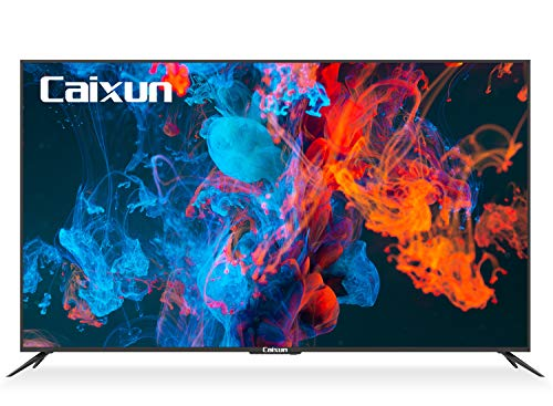 Caixun Android TV 65-Inch Smart LED TV 4K EC65E1A - Ultra HD Flat Screen Television with HDR10 and Voice Remote - Chromecast Built-in,Google Assistant,Bluetooth (2021 Model 65' TV)