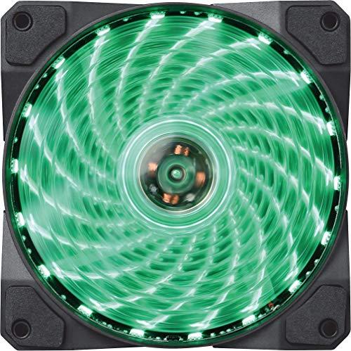 Marvo FN10GN - 120MM ventilatorventilator ventilator koeler voor PC LED groen anti-vibratie geluidsarm, kleur: groen