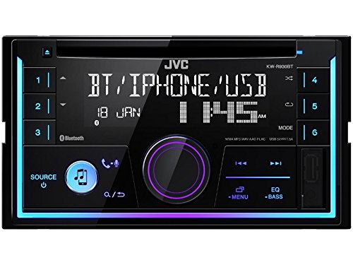 JVC Autoradio KWR930BT 2 DIN Bluetooth Spotify mit Einbauset für Toyota Corolla Verso (ZER/ZZE/R1) schwarz