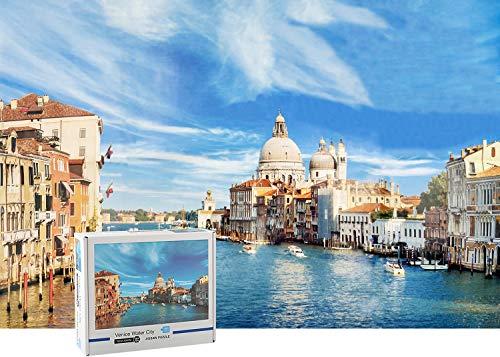 Puzzle de 1000 Piezas para Adultos- Venice, Obra de Arte de Juego de Rompecabezas para Adultos, Adolescentes, Rompecabezas de Piso de Impresión de Alta Definición Multicolor (70x50cm)