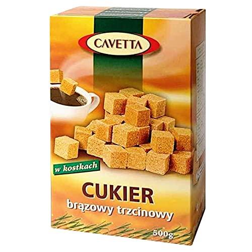 Zollette di zucchero di canna marrone Cavetta 500 g Confex