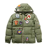 Wordbuy New Bape A Bathing Ape Hoodie Jacket Shark Head Embroidery Thicken Cotton Coat (XL) Green