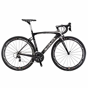 Carbon Road Bike, SAVA HERD6.0 T800 Carbon Fiber 700C Road Bicycle with 105 22 Speed Groupset Ultra-Light Carbon Wheelset Seatpost Fork Bicycle