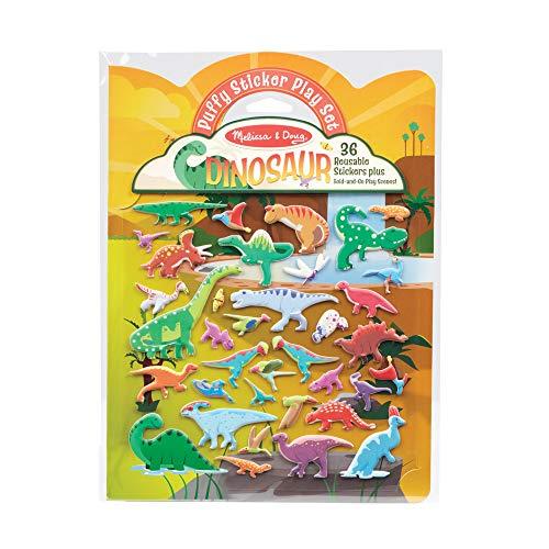 Melissa & Doug 40521 Pegatinas hinchadas reutilizables - Dinosaurios | Libros de actividades | 3+ | Regalo para niño o niña