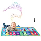 Bst&1stFU Kids Piano Mat, Music Dance Mat with 28 Sounds Floor Piano Keyboard Musical Touch Play Mat Educational Toys Gifts for Children Toddlers Baby Boys Girls 1 2 3 4 5 Years Old (110*36cm)