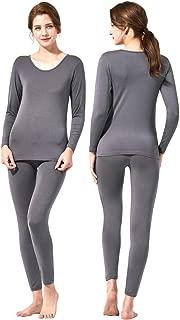 Feelvery Women's Natural Ultra-Soft Premium Tencel Silk Long Johns Thermal Underwear Set