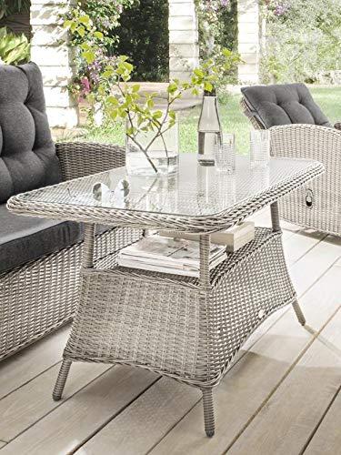 Destiny Loungetisch Merano Vintage Weiß Tisch Gartentisch