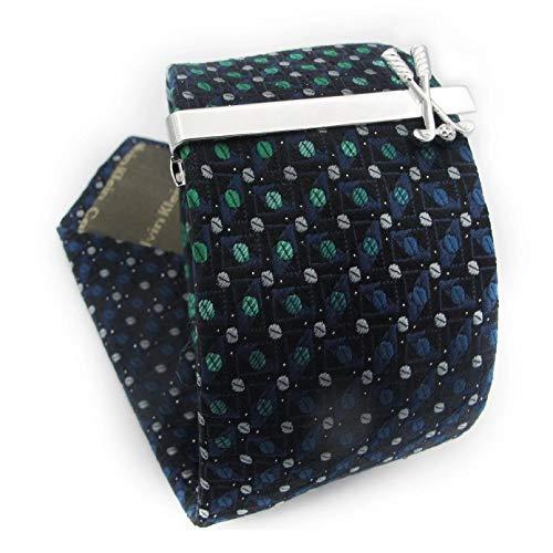 Owenqian Alfiler Corbata, Pisacorbatas, Clips de Corbata de Moda Material de latón Color Plateado Barra de Corbata de dólar Estadounidense para Hombres
