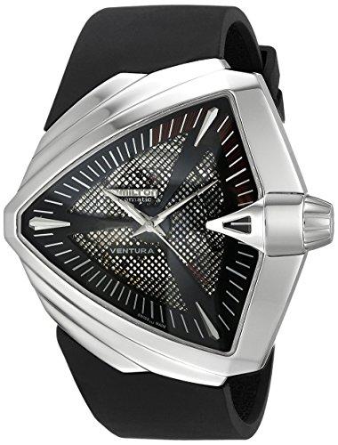 Hamilton Men's H24655331 Ventura XXL Analog Display Swiss Automatic Black Watch