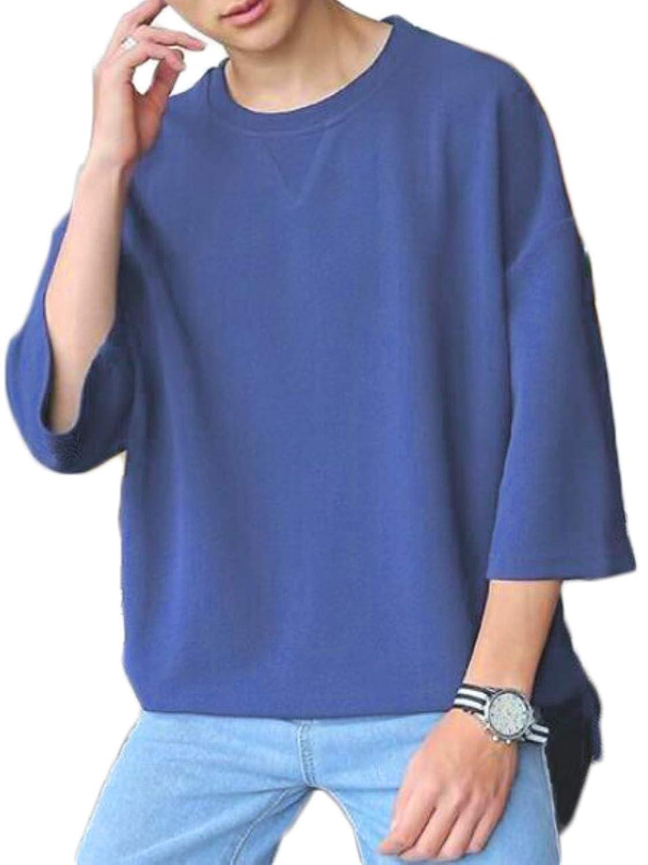 [リザウンド] メンズ 七分袖 ビッグ Tシャツ トップス インナー big シルエット 509
