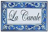 Azul'Decor35 Letrero de fachada de la casa - Texto e Imagen Totalmente Personalizables – 20x30x0.8cm