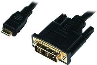 LogiLink CHM001 mini-HDMI till DVI-D-kabel 1,0m svart