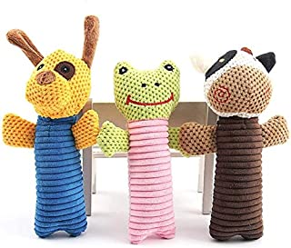 BRKURLEG Dog Rope Toys for Aggressive Chewers - Set of 3 Nearly Indestructible Dog Toys - Bonus Giraffe Rope Toy Puppy Che...