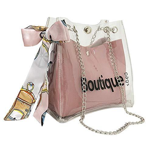 OIKAY 2019 Frauen Tasche Handtasche Schultertasche Umhängetasche Mode Neue Handtasche Damen Umhängetasche Schultertasche Transparente Strand Elegant Tasche Mädchen 0220@098
