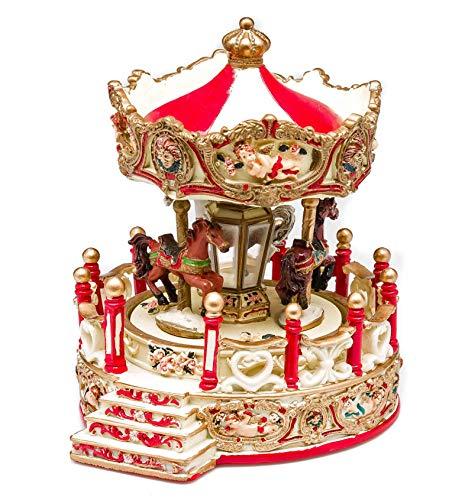 aubaho Spieluhr Karussell Pferd Jahrmarkt Kirmes antik Nostalgie Stil Music Box Carousel