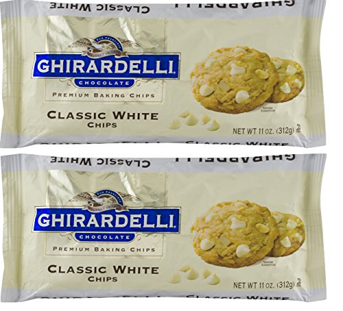 Ghirardelli Classic White Chocolate Chip, 11 Ounce, 2 Packs