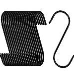 NACTECH 20pz Ganci a S in Acciaio Inossidabile Resistente Ganci Metallo 8.5cm Resistente A...
