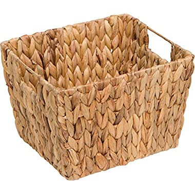 11.5  Hyacinth Storage Basket with Handles, Rectangular, by Trademark Innovations