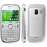 Nokia Asha 302 - Móvil libre (pantalla de 2,4' 240 x 320, cámara 3.15 Mp, 100 MB de capacidad, procesador de 1 GHz, S.O. S40 Asha) color blanco