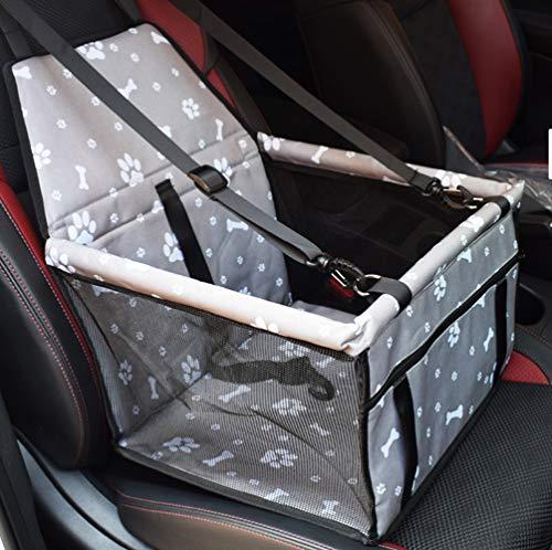GUOYI®Wasserdicht Atmungsaktiv Haustier Auto Matte Haustier Sicherheit Auto Sitz Doppelt Schicht Verdickt Haustier Tragen Auto Tasche Reisen Haustier Auto Kissen (Grau Fußabdruck)